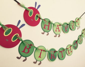 The Very Hungry Caterpillar Birthday Banner
