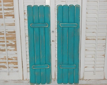 Wooden Shutters Interior Shabby Rustic Shutters Coastal Beach Cottage Decor