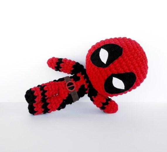 Deadpool Knitting Pattern : Deadpool Crochet Pattern - Instant Download - Amigurumi Plush Doll CROCHET PA...