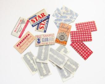 Lot Vintage Double Edge Razor Blades Collectors Brands