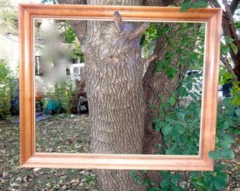 Wood Frame, Large Frame, 29 x 23 Frame, Wooden Frame Plaque, Photo Prop, Photo Booth, Wedding Decor, Shabby Rustic Cottage Chic Big Frame