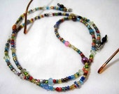 Colorful Seed Beads Eyeglass Chain Sunglasses Lanyard Necklace