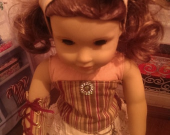 """Steampunk Outfit for American Girl Doll (18"""" dolls)"""