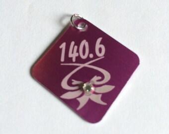 Triathlon necklace: 140.6 triathlon charm necklace, ironman jewelry, 140.6 jewelry, ironman triathlon, triathlon jewelry, statement necklace