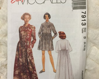 McCalls Misses Dress Sewing Pattern M7913 Size 8 10 12 UC Uncut FF