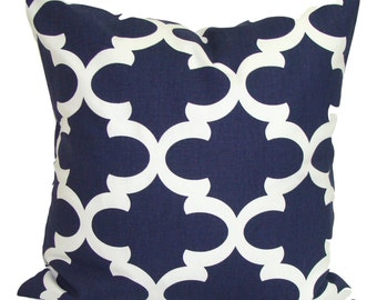 Navy Blue Pillows, Blue Pillow Cover, Decorative Pillow, Throw Pillow, Navy Pillows, Accent Pillow, Pillow Covers, All Sizes, Euro, Cushion