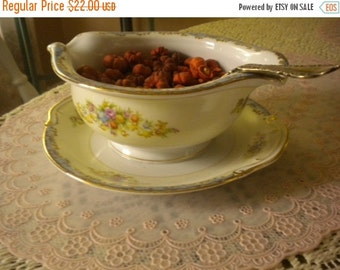 SUMMER SALE Cottage chic Gravy Boat,French country decor,Serving Piece,Rose gravy boat,shabby chic decor