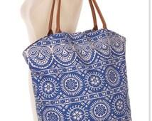 Top selling shops Item, Canvas Large Tote Bag ,ethnic print Handbag, Shoulder Bag,summer tote, - By PiYOYO 54279