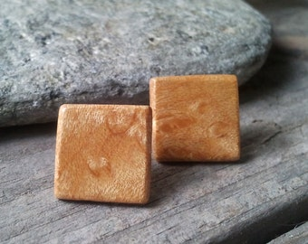 Bird's Eye Maple Stud Earrings