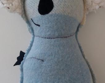 wool koala australian animal softie handmade