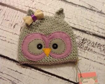 Hootie the owl crochet hat, photo prop