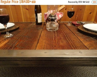 Last Chance Sale 10% OFF. Industrial Dining Table, Antique Barn Wood, Raw Steel Edge, Hairpin legs, Quality, Character, Customizable