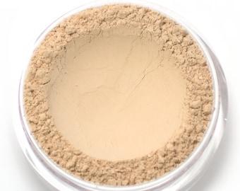 "Mineral Wonder Powder Foundation - ""Creme"" - light shade with a pink undertone - vegan makeup"