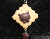 Fancy Cat Biscuit Necklace