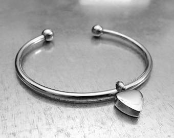 Cremation Heart Bracelet, Urn Bracelet, Ashes Holder Bracelet, Memory Bracelet, Cremation Jewelry