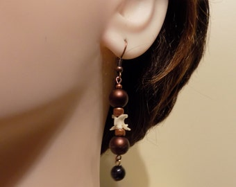 Snake Bone Jewelry Earrings Real bone/Womens gift/Fall Jewelry