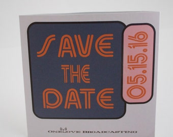 CD Sleeve Vinyl Record Styled CD | Save the Date |  Wedding Favor | Austin City Limits Style - Vinyl CD Custom Label | Sample