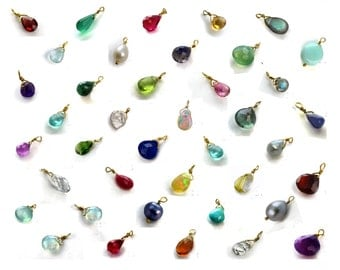 Add a Birthstone. Gemstone Add-on. Personalize Your Necklace or Bracelet.  Wire Wrapped in Gold fill or 925 silver.