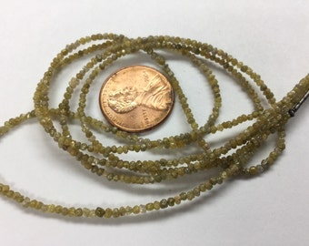 Yellow Rough Cut Diamonds Faceted