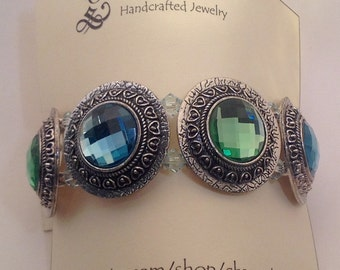 Handmade Crystal stretch bracelet