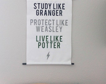 Harry Potter Inspired Wall Hanging Art