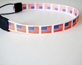 American Flag Patriotic Headband