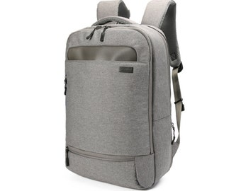 Simple Air mesh cushion Backpack with waterproof cover  (Gray)