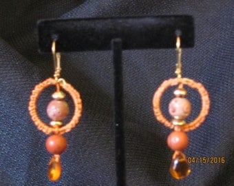Salmon Colored Earrings