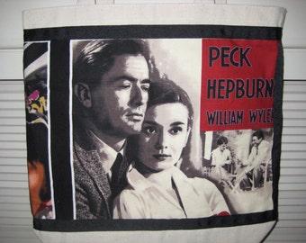Audrey Hepburn Bag, Nostalgic Hollywood Reusable Grocery Tote, My Fair Lady, American Movie