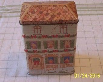 Gibson Greetings Inc. Christmas House Tin