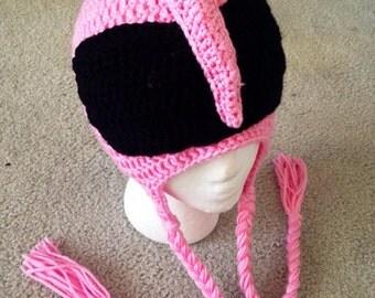 Pink Power Rangers Crochet Hat