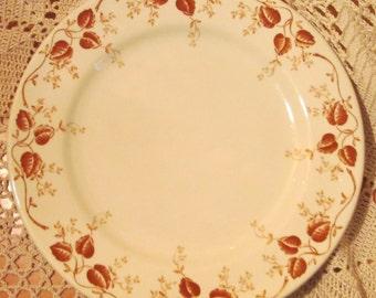 Lot of 7 Vintage Mayer China Restaurant Ware Plates, Pembroke Pattern