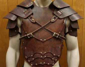 Leather Armor Sentinel 2 Gothic chest back & shoulders