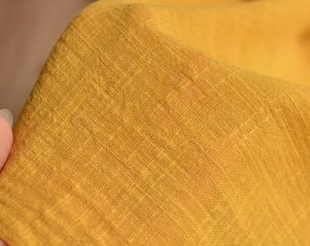 Soft Linen Cotton Gauze Fabric in Yellow MJ1765
