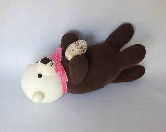 Otter Plush Toy, Otter Stuffed Animal, Plushie, Stuffed Doll, Sock Monkey