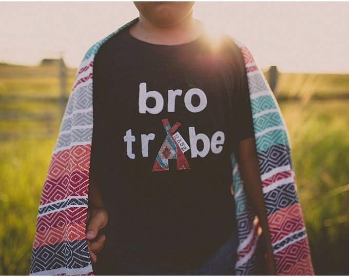 """Swanky Shank Brother Tees """"Bro Tribe"""" Customized, Personalized Tee; One Tee"""