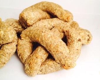 Apple Pretzels, Pumpkin Pretzels, All-Natural Dog Treats, Gluten Free, Oats