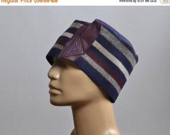 End Of Summer SALE Women's Hat - Repurposed Wool Hat - Blanket Hat - Winter Hats - Warm Hats