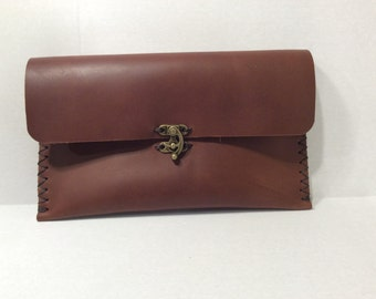 Brown Pouches Clutches/Wristlet Wallets For Women/ Leather Wallet Women Accesoories