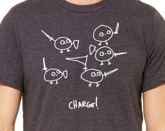 Charge! Unisex Tee - Bella Canvas - Men's Woman's tee - S,M,L,XL,2XL,3XL