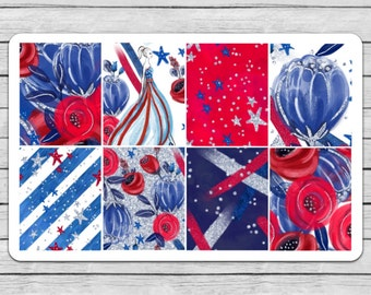 4th Of July Full Box Planner Stickers