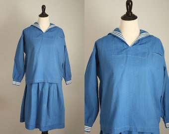 1920s sailor middy dress | vintage 20s sportswear - as is