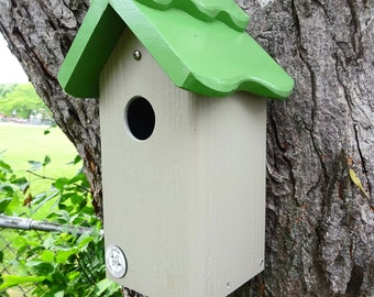 Bluebird house, PVC Cedar Bird house,contemporary,fully functional virtually maintenance free post mount hanging birdhouse new design unique