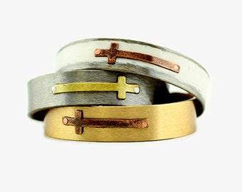 """1/2"""" Cross Bracelet"""