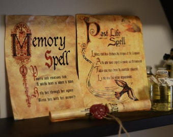 Book of Shadows Spells - Old Paper
