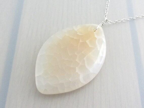 Sales Clearance, Teardrop Fire Agate Gemstone Pendant Sterling Silver Necklace