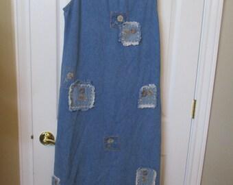 AGAPO Denim Dress Sleeveless dress size Large womens
