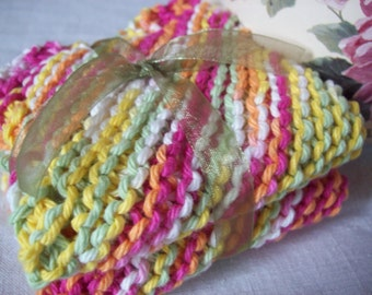 Over The Rainbow Twists Dishcloth Set