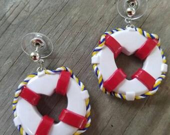 Life Saver Nautical earring set