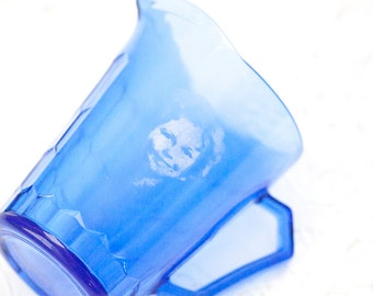 Cobalt Blue Shirley Temple Pitcher, Small Pitcher